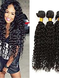 3pcs / lot 8inch-30inch brasilianisches Haar Farbe (natürliches Schwarzes) verworrenes lockiges Haar