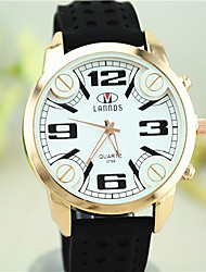 nova moda unissex silicone relógios mostrador grande estilo europeu