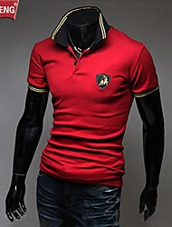 Men's Short Sleeve Polo , Cotton Casual/Work/Sport/Plus Sizes Pure