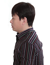 Capless Fashion Men's Short Black Straight Hair Wig