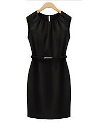 Lisa Women's Casual Short Sleeve Dresses (Chiffon/Cotton)