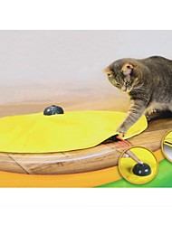 Cats Meow Yellow Undercover Fabric Moving Wand Cat Play Cat's Toy Electronic Interactive Toy As Seen on TV