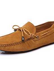 Men's Shoes Wedding/Casual/Party & Evening Suede Boat Shoes Blue/Brown/Burgundy