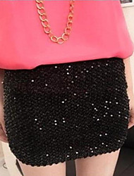Women's Sequin Bling Mini Skirt