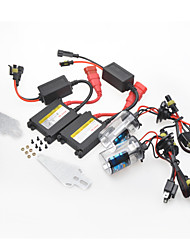 H3 35W 6000K HID Xenon Lights with DC 12V 35W Ballasts Kit