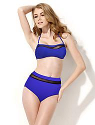 Sapphire blue gauze sexy high waist euramerican fission bikini factory direct sale spot