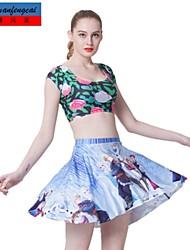 falda estampada sexy mediados de cintura delgada falda plisada moda casual ropa underdress de cmfc®women