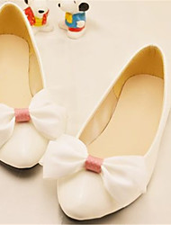 Women's Shoes Leather Chunky Heel Pointed Toe Flats Wedding/Party & Evening White