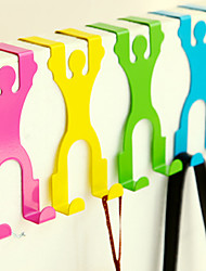 Cartoon Design Overdoor Hanging Hook Closet Rack Door Back Holder(Random Color) 14.5*6.8*3cm