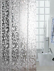 """Diamond Radiance""Elliptical Stone Waterproof Shower Curtain"