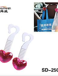 SHUNWEI® Car Seat Back Headrest Lovely Heart Shapes Clips 2pcs