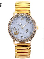 Ladies Fashion Shells With Circular Steel Butterfly Spring Chinese Movement Watch(Assorted Colors) Cool Watches Unique Watches
