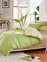 Drap housse - Simple&Opulence® - en Coton - Beige/Vert