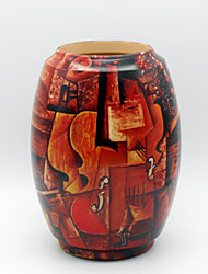 Wood Painting Pattern Vase