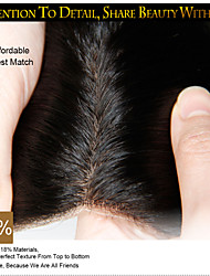 "8-20"" Malaysian Silk Base Closure Straight Size 4x4 Natural Black Free Middle 3 Part Virgin Human Hair Silk Lace Closure"