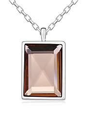 falar com o meu coração curto colar banhado com 18k verdadeiro mocca platina cristalizado pedras de cristal austríaco