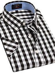 U&Shark Casual&Dress Men's 100% Fine Cotton Short Sleeve Shirt  by American Wahsing/DSX-002