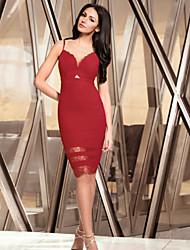 Vestidos ( Rojo , Poliéster/Licra , Desempeño/Ropa de Noche ) - Desempeño/Ropa de Noche - para Mujer