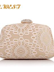 L.WEST® Women's Fashion Retro Diamonds Lacy Party/Evening Bag