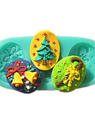 Christmas Tree Bell Crutches Fondant Cake Molds Chocolate Mould For The Kitchen Baking Sugar Cake Decoration Tool