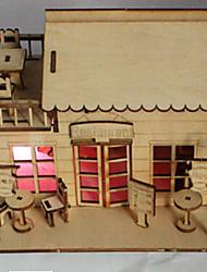 3 d cabane bricolage avec une ampoule peut être coloré modèle en bois