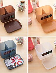 Make-up Kosmetik Organisatorkasten unter dem Deckmantel fügt 2 große Fächer Fach (gelegentliche Farbe)