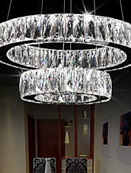 Crystal LED Pendant Lights Lighting Modern Two Rings D6080 K9 Large Crystal Indoor Ceiling Light Fixtures
