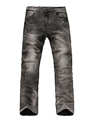 Dark grey white jeans
