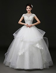 Ball Gown Court Train Wedding Dress -Jewel Tulle