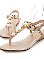 Women's Shoes Flat Heel Open Toe Sandals Casual Silver/Gold