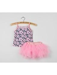 Girl's Summer Micro-elastic Sheer Dresses (Cotton)