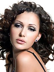 cordón de las mujeres de 10 pulgadas peluca del frente del color del ~ 24inch pelo de la India (# 1 # 1b # 2 # 4) pelo de la onda del