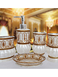 The Morocco Pattern Bathroom Ware 5 Sets/White