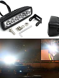 V1NF 6Inch 18W 6LEDs Work Light Bar Spot Driving Lights Offroad Fog 4WD Car SUV