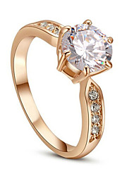 Statement Rings Crystal Simulated Diamond Alloy Classic Jewelry Wedding Party Daily Casual 1pc