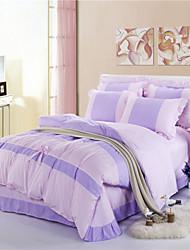 Bettbezug-Sets - H&C® - Purpur - Baumwolle/Seide
