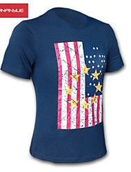 MANWAN WALK®Men's US Flag Print Short Sleeve T-Shirt