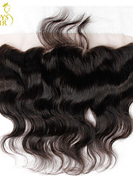 Malaysian Lace Frontal Closure Body Wave Size 13x4 Natural Black Free Middle 3 Part Virgin Human Hair Full Lace Frontal