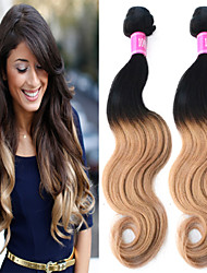 "3 Pcs/Lot 12""-26"" 100% Brazilian Unprocessed Virgin Human Hair #1B-27 Color Ombre Body Wave Hair Weaves"