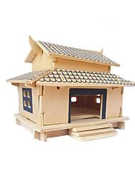puzzle en bois 3 d cabine