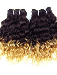 Cheap Price Brazilian Virgin Hair Deep Wave/Curly ,Color 1B/27 Raw Human Hair Weaves Factory Wholesales.