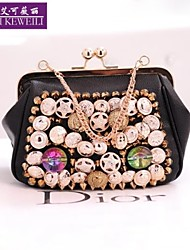 AIKEWEILI®Women's Handbag Fashion Korean Style Fastener Mini Evening Bags Chain Casual Shoulder Bag Hobo Crossbody Bag