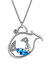 Modern Girl Women's silver Fashion Necklace With Rhinestone