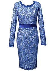 Women's Sexy Bodycon Casual Party Long Sleeve Lace Dress