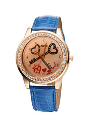 Fashion Ladies Sweet Heart 5 Colors Crystal Diamond Rhinestone Watches Cool Watches Unique Watches