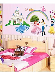 Wall Stickers Wall Decals, Prince and Princess PVC Wall Stickers