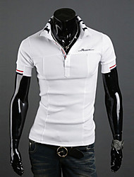 Men's Casual/Work Print Short Sleeve Polo Shirts