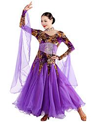 Robes ( Violet , Velours/Fibre de Lait , Danse moderne/Spectacle ) Danse moderne/Spectacle - pour Femme