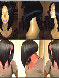 10inch Brazilian Human Hair Natural Color Full Lace Wig Bob Straigh