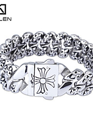 Kalen 2015 Men's Jewelry Unique Design Cheap Steel Casting Imitation Ivory Jewelry Bracelet